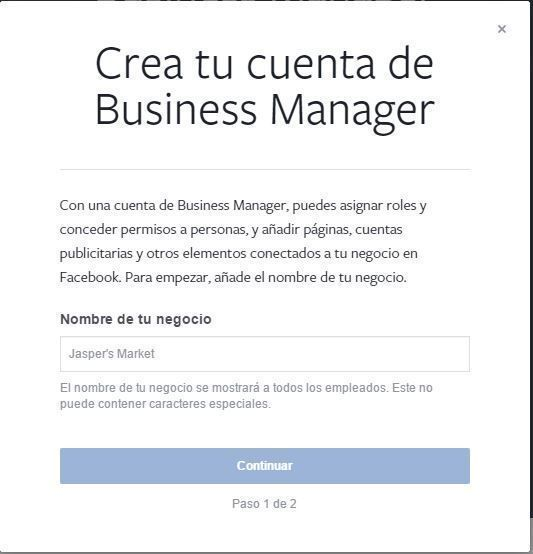 cuenta de business manager